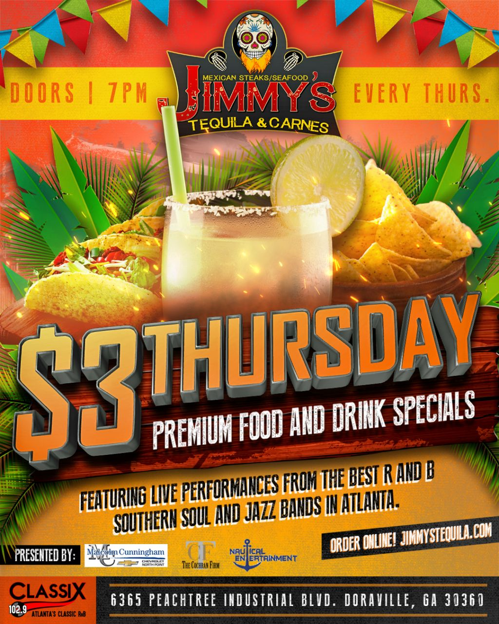Jimmy Tequilla & Carnes PResents $3 Thursday's