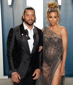 Russell Wilson and Ciara 2020 Vanity Fair Oscar Party
