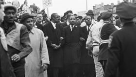 Martin Luther King Leading Protest March